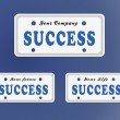Foto de Stock  : Success license plate