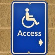 Disable access sign — 图库照片