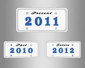 License plate with year — Stock Photo