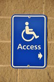 Disable access sign — Stock Photo