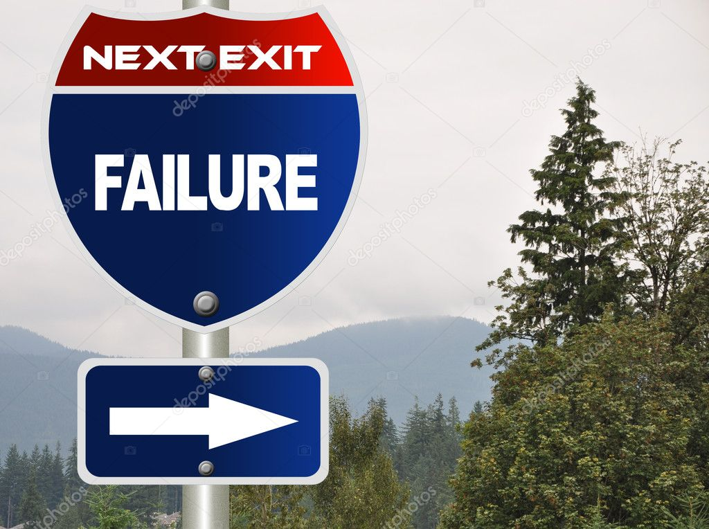 Failure road sign — Stock Photo #6814644