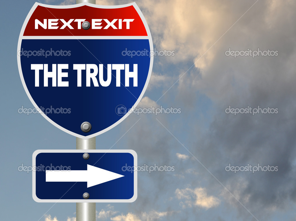 The truth road sign — Stock Photo #6814645