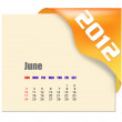 June of 2012 calendar — Foto Stock