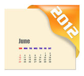 June of 2012 calendar — Stock Photo