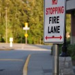 Stock Photo: No stopping on fire lane