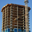 Concrete Highrise Construction Site — Stock Photo
