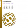Stock Photo: September of 2012 calendar