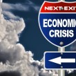 Economic crisis road sign — Stock Photo #7769120