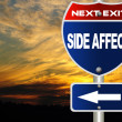 Stock Photo: Side affect road sign
