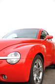 Macro red car — Stock Photo