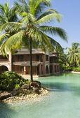 Luxury tropical resort in South Goa — Stock Photo