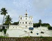 Catholic church in Panjim. Goa — Stock Photo