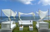 Pérgola de lujo en la costa mediterránea. — Foto de Stock