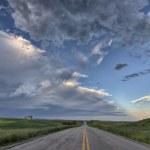 Prairie Road and School House — Stock Photo #6927056