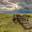 Old Prairie Wheel Cart Saskatchewan — Stock Photo #6927450
