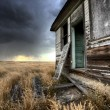 Abandoned Farmhouse Saskatchewan Canada - Stock Photo