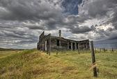 Abandoned Farmhouse Saskatchewan Canada — Stock Photo