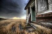Abandoned Farmhouse Saskatchewan Canada — Stock Photo