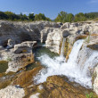 Sautadet waterfalls in southern France — Stock Photo