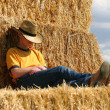 Stock Photo: Sleeping Cowboy
