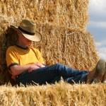 schlafende cowboy — Stockfoto