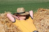 Sleeping Cowboy — Stock Photo