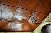 Ceiling of wood — Stock Photo