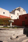 Santa Catalina Monastery fountain — Stock fotografie