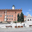 Main Square in Sandomierz, Poland - Stock Photo
