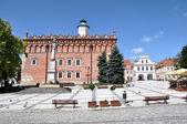 Main Square in Sandomierz, Poland — Stock Photo