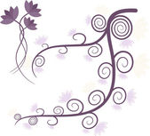 Purple tree — Stock Vector