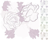 Seamless vector background with roses — Vettoriale Stock