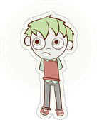 Happy little boy — Stock Vector