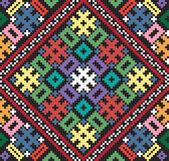 Ukrainian ethnic seamless ornament, #75, vector — Stock Vector