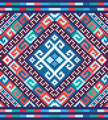 Ukrainian ethnic seamless ornament, #73, vector — Stok Vektör