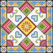 Ukrainian ethnic seamless ornament, #79, vector - Stock Vector