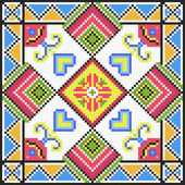 Ukrainian ethnic seamless ornament, #79, vector — Stock Vector