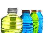 Colorful water bottle tops — Stock Photo