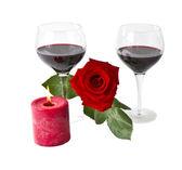 Czerwona róża romans — Zdjęcie stockowe