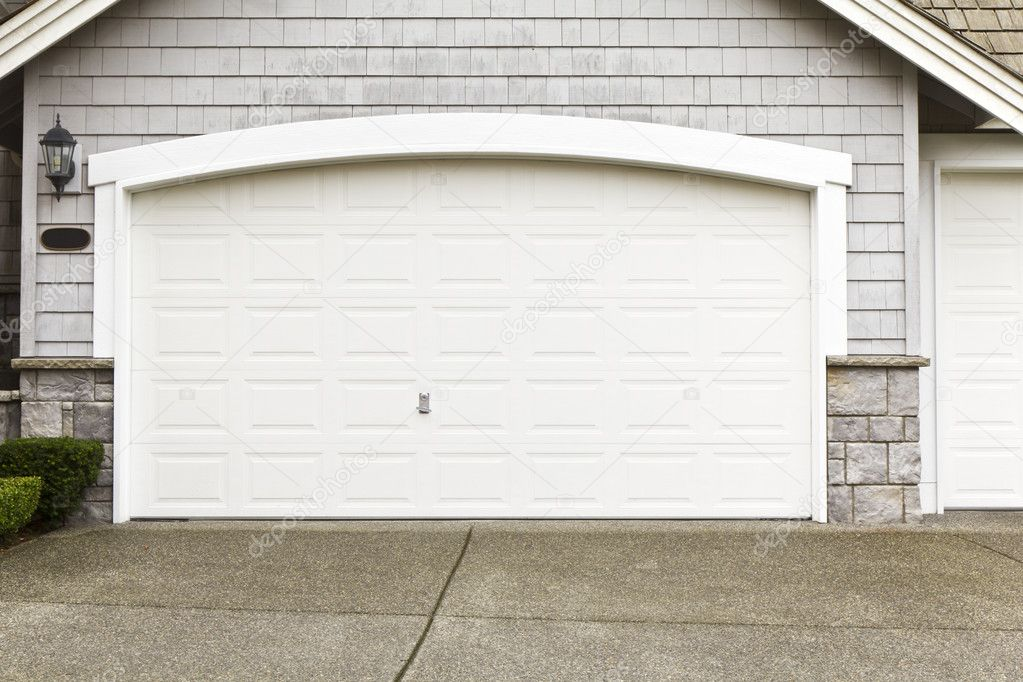 New paint job on garage door frame stock photo tab62 for Garage door installation jobs
