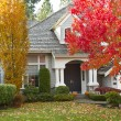 Stock Photo: Residential Home during Fall Season