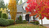 Residential Home during Fall Season — Stock Photo
