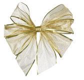 Golden Gift Bow — Stock Photo