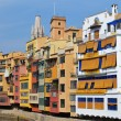 Colorful houses in Girona, Spain — Stock Photo