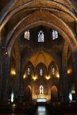 Interior of the catholic church — Stock Photo