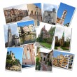 Travel photographs collage — Stock Photo