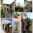 Royalty-Free Stock Photo: Eze village photographs collage