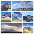 Collage from mountain photographs — Stock Photo #7585185