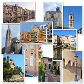 Europe cities collage — Stockfoto