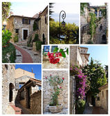 Eze village photographs collage — Stock Photo